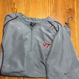 Virginia Tech short sleeve jacket Nike grey L
